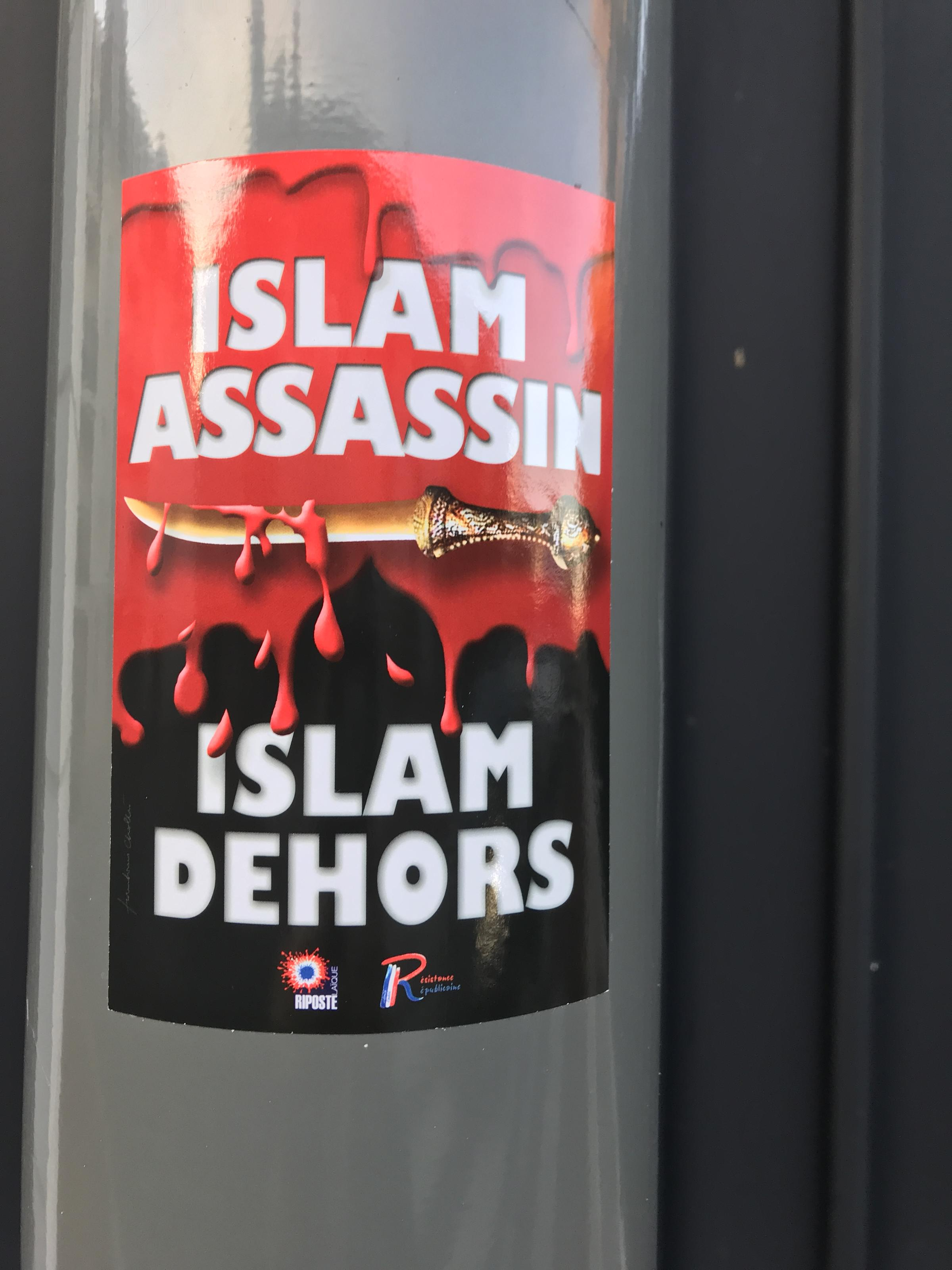 Scandaleuse condamnation de Christine Tasin : 8000 euros pour les autocollants « islam assassin »!