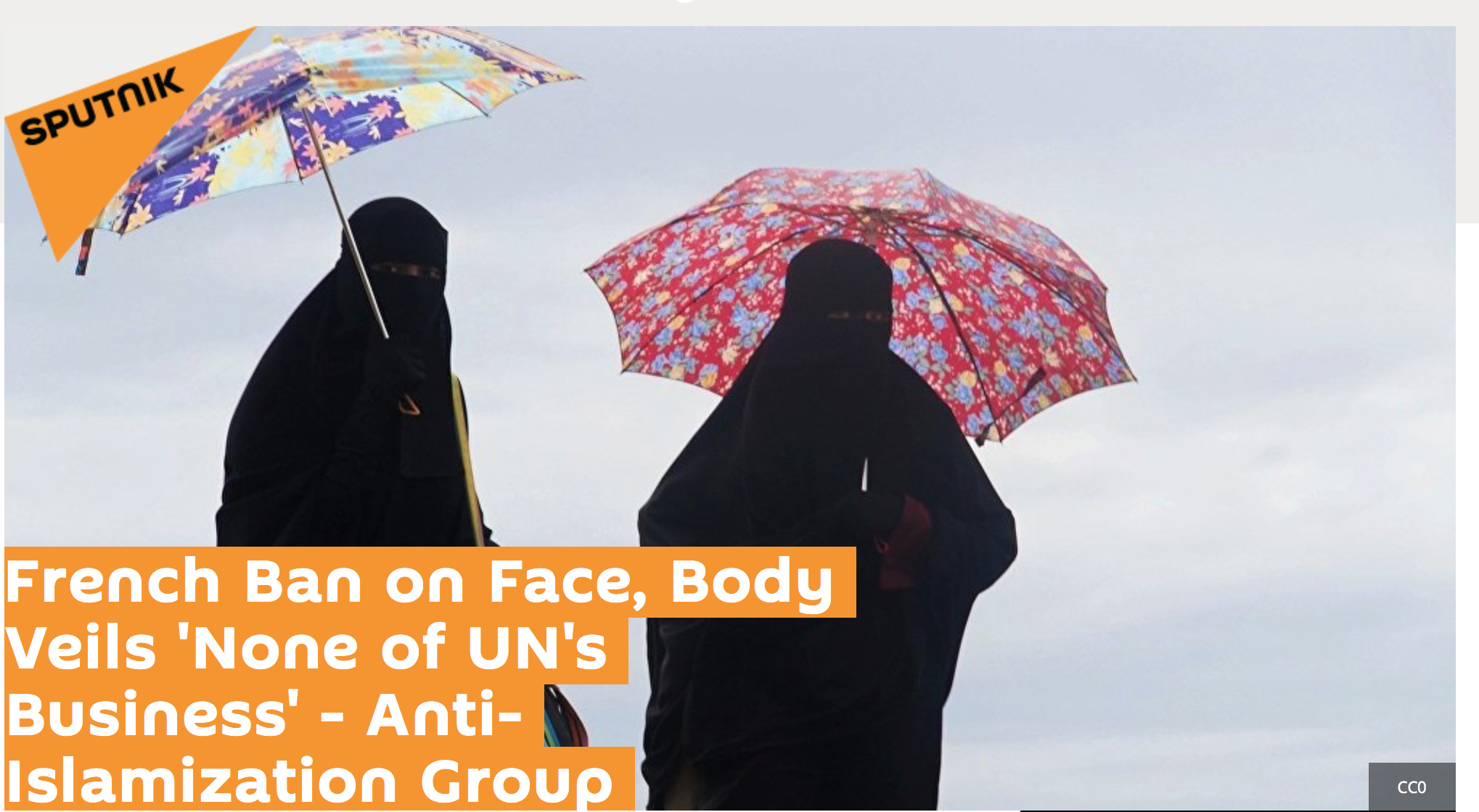 Christine Tasin sur Sputnik  : interdiction du Niqab ? Cela ne regarde pas l'ONU