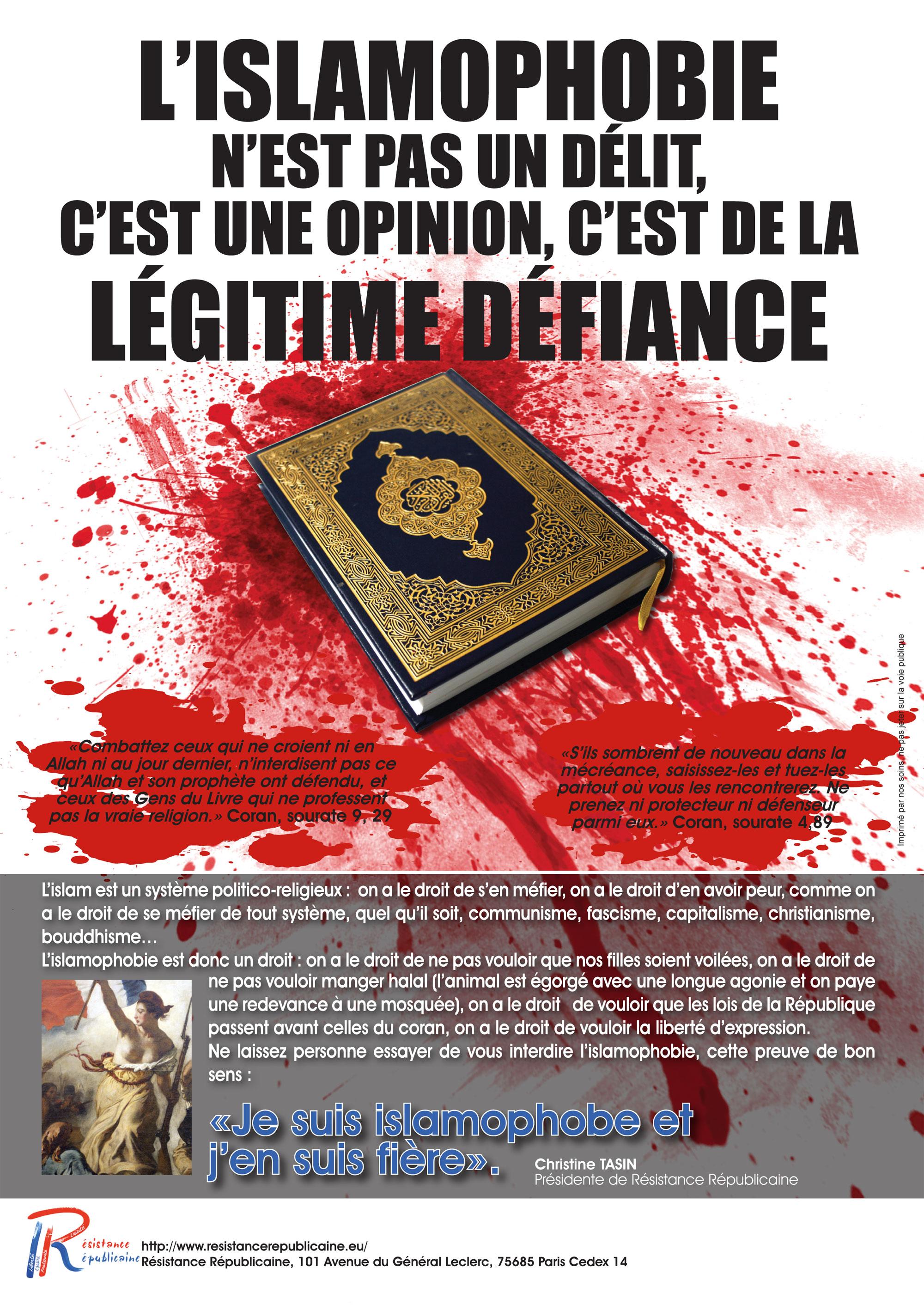 Ça suffit ! La haine de l'autre, ce n'est pas l'islamophobie, c'est l'islam !