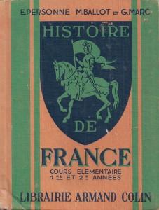 Personne Ballot Marc Histoire de France CE0000