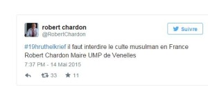 Interdiction de l'islam : soutenez Robert Chardon auprès de l'Association des Maires de France
