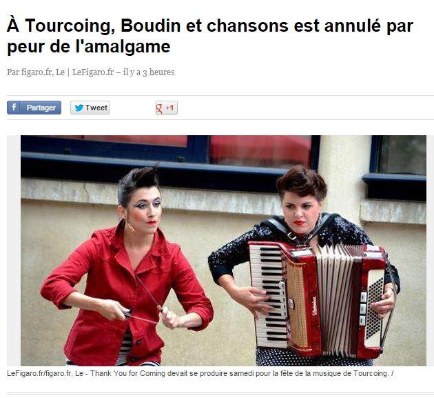 Tourcoing : pas de chanson avec le mot «boudin», choquant… à la fête de la musique