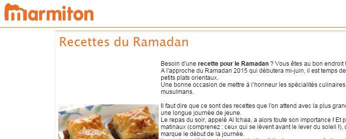 Quand Marmiton fait un cours de théologie musulmane sous prétexte de proposer des recettes pour le ramadan…
