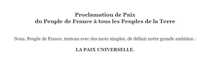 proclamationpaix