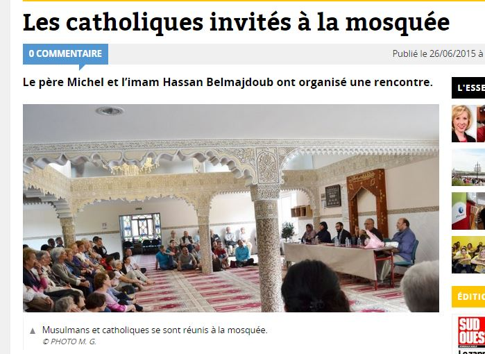 Lettre ouverte aux curés de Pessac et Mérignac, invités à la mosquée pendant le ramadan