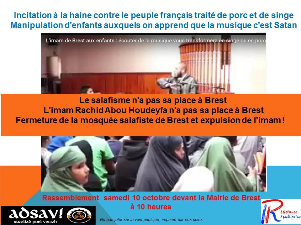 Laisserez-vous l'imam de Brest comparer les femmes non voilées à des merdes ?
