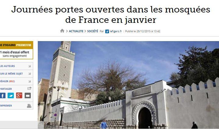 Portes ouvertes dans les mosquées ? Les commentaires du Figaro valent leur pesant de cacahuètes