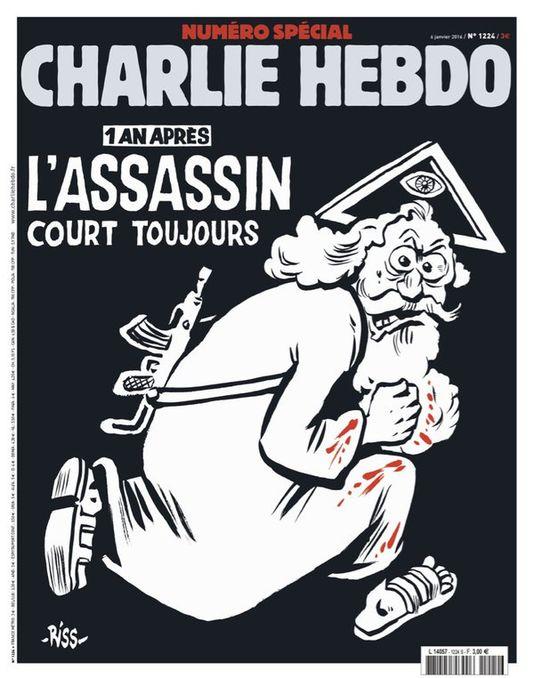 Charlie Hebdo : ce salopard de Riss renvoie dos-à-dos les terroristes musulmans et les chrétiens !