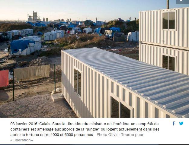 Les «réfugiés» de Calais ne veulent pas des containers de l'Etat