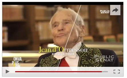 D'Ormesson voudrait que l'islam fût représenté à l'Académie française