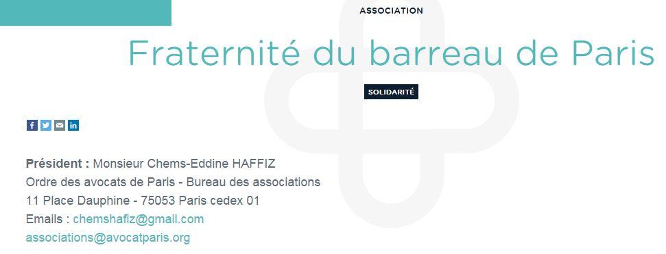 La Fraternité du barreau de Paris, des avocats contre la liberté d'expression !