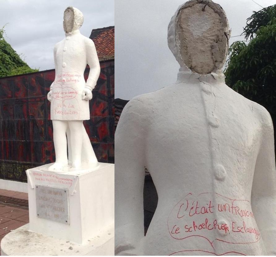 Ce sont des Noirs qui vandalisent la statue de Schoelcher, qui a fait abolir l'esclavage…
