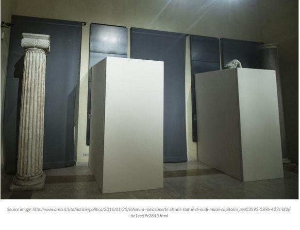 Rome : ils ont caché les statues antiques nues pour la visite du président iranien