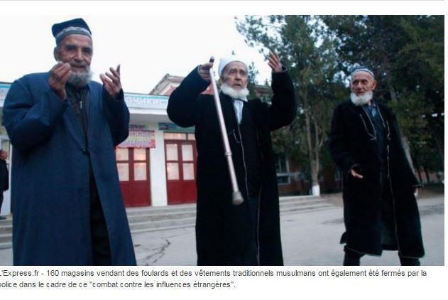 Le Tadjikistan rase 13000 barbes, interdit le port du voile et ferme les magasin de vêtements islamiques