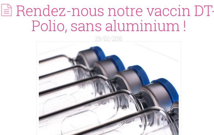 Vous devez peser pour que le vaccin DTPolio soit à nouveau disponible pour nos enfants