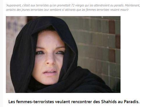 Les femmes terroristes palestiniennes attendent leurs récompenses, de beaux mecs au paradis