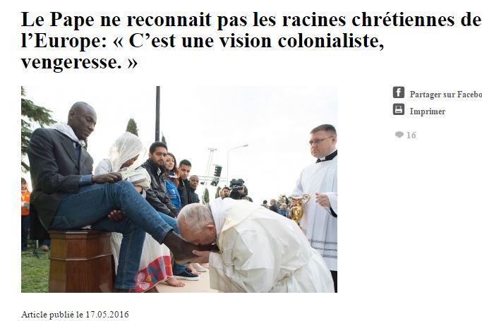 Le Vatican défend-il l'arrivée des clandestins parce qu'il reçoit de l'argent des mafias qui y ont intérêt ?