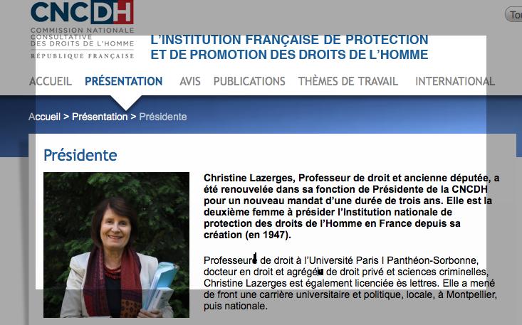Christine Lazerges, exemple de pénaliste acoquinée aux socialistes et récipiendaire de leurs honneurs