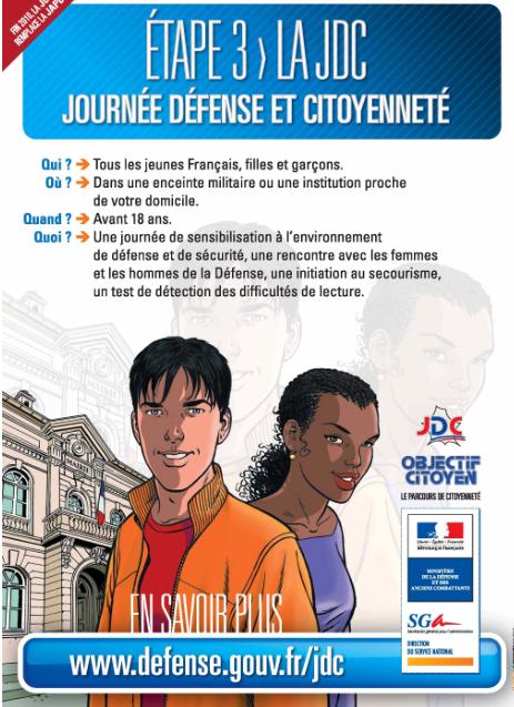 La Journée d'appel et de préparation à la Défense avec des Chances pour la France, le pied !
