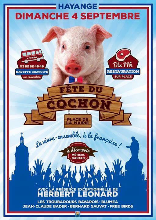 Fête du cochon dimanche 4 septembre à Hayange (MàJ)