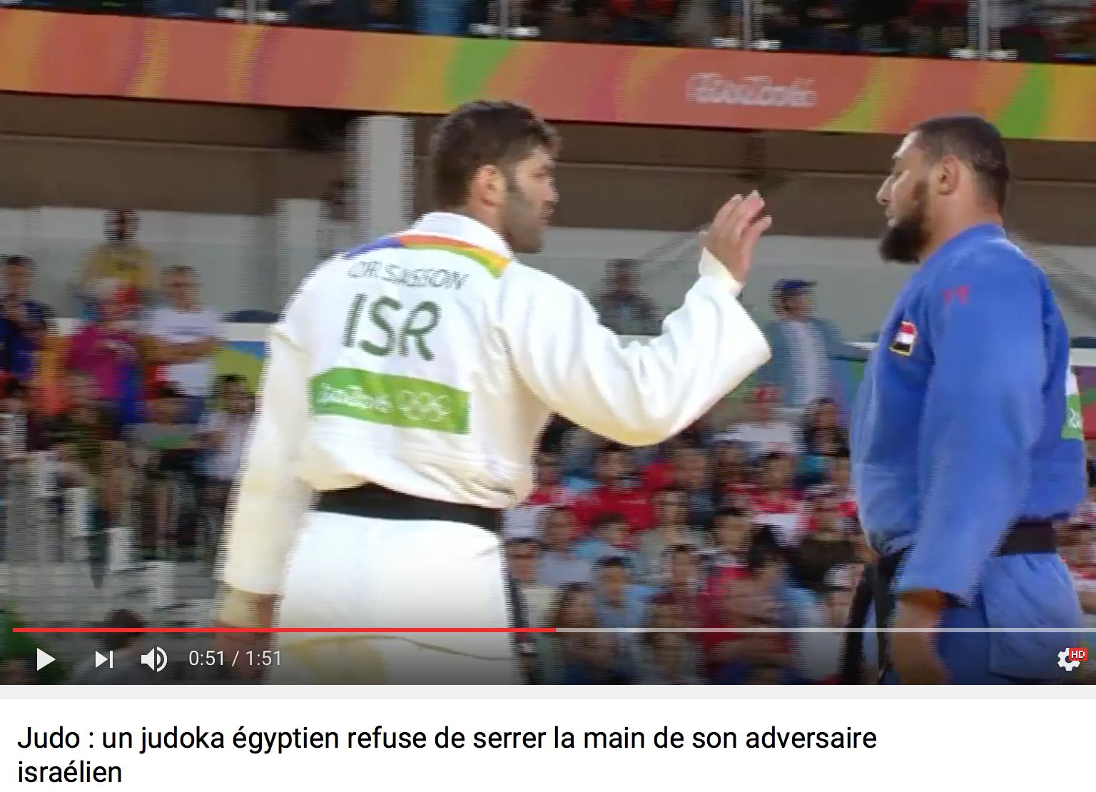 Rio : un barbu, judoka égyptien, refuse de serrer la main de son adversaire israélien