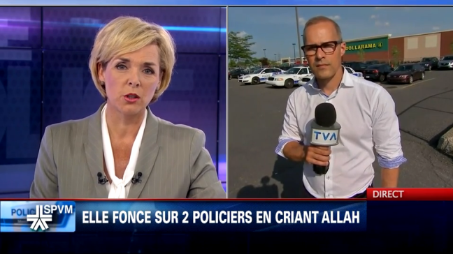 Montréal : Une «déséquilibrée» fonce sur deux policiers du SPVM en criant «Allah»