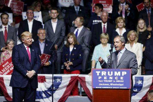 Etats-Unis : Nigel Farage affiche son total soutien à Donald Trump dans le Mississippi
