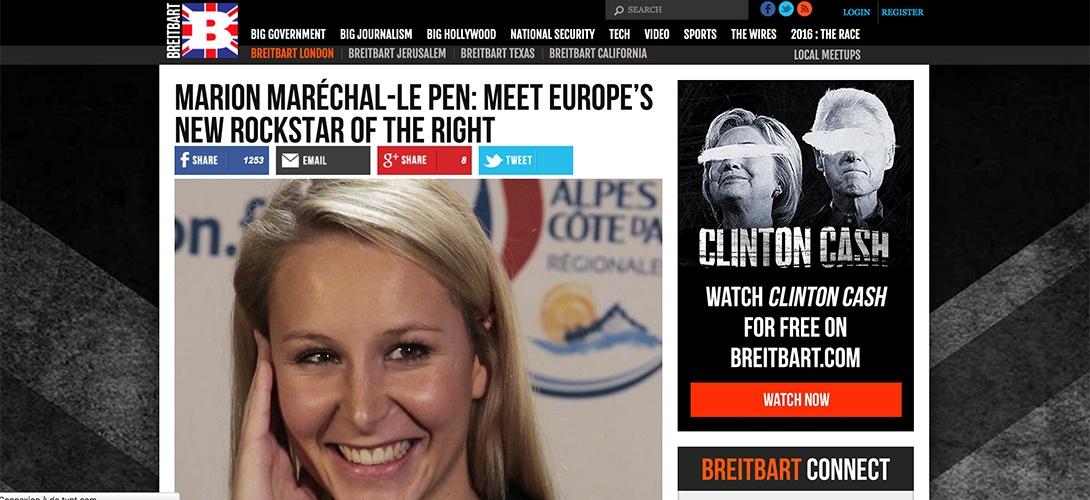 Proche de Trump, le site conservateur Breitbart News songe à se lancer en France