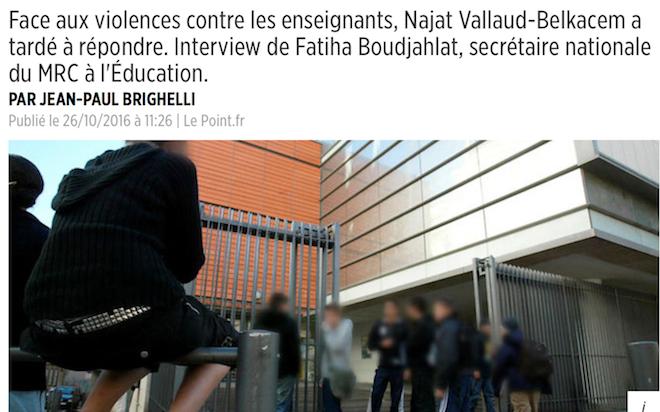 Ecole : bienvenue, là aussi, dans l'ère de la barbarie encouragée par les élites