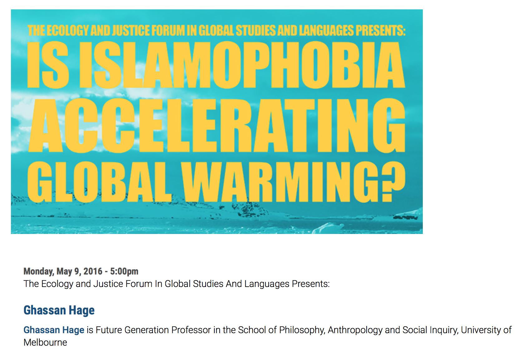 L'islamophobie accélère-t-elle le réchauffement climatique ?