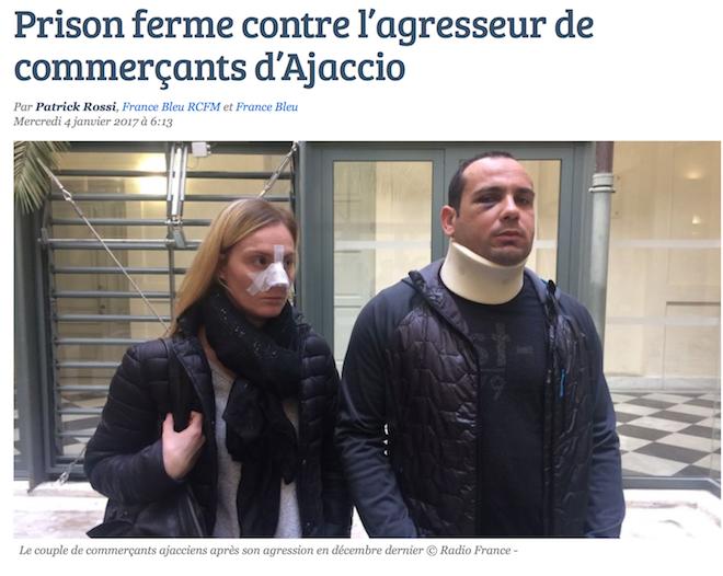 Ajaccio : 4 mois de prison ferme pour Sabri Ouerghi, agresseur de deux commerçants