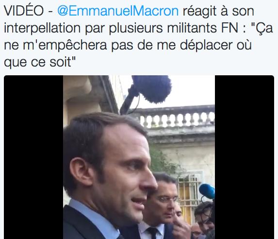 Quand Macron accuse les militants du Front National de lui pourrir ses meetings (vidéos)