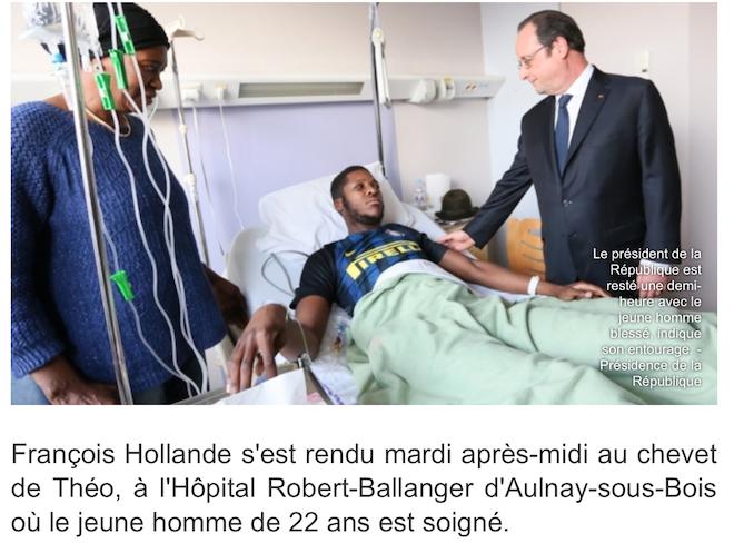 Après Leonarda, Hollande chouchoute Theo… il adore les délinquants !