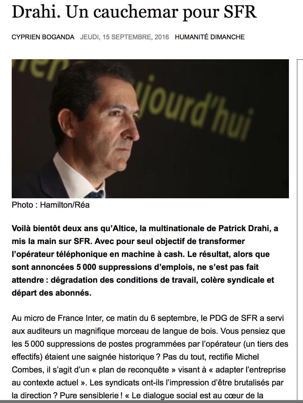C'est bien Macron qui a permis le rachat de SFR par Drahi, 6ème fortune française…