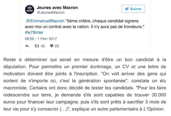 La Macron académie, le petit jeu pour devenir député !