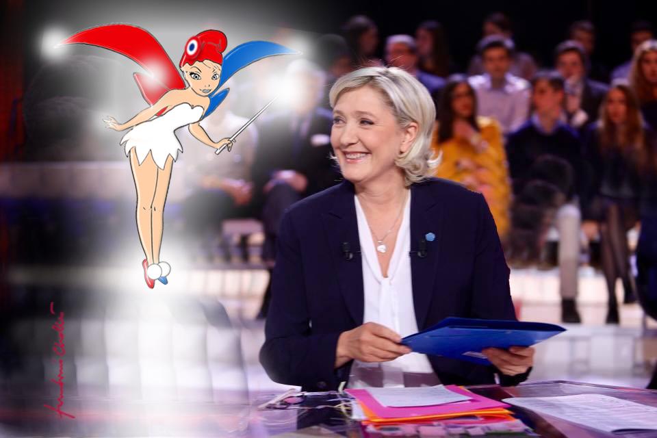Adresse aux faibles d'esprit qui voudraient déserter sous prétexte que Macron devance Marine de 2%