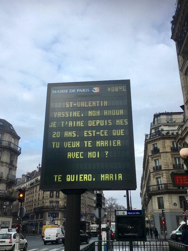 Hidalgo souhaite aux Parisiens  Yassine et Mamadou une bonne Saint- Valentin…