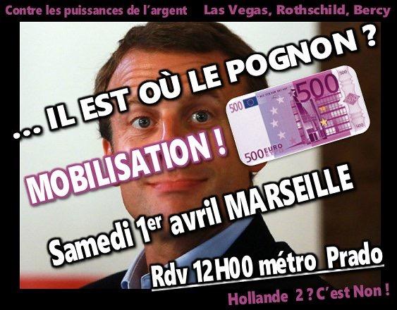 Tous à Marseille samedi à midi pour dire non à Macron, candidat des puissances de l'argent ! [MAJ]