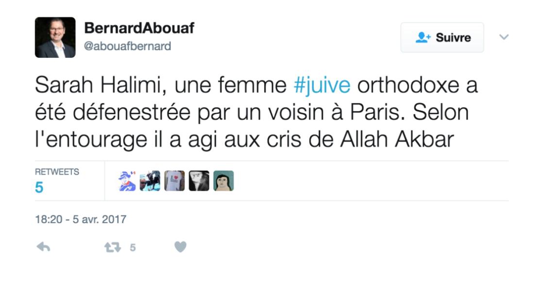 Une Juive défenestrée aux cris de Allah akbar : «l'apartheid» en Israël vous comprenez à présent ?