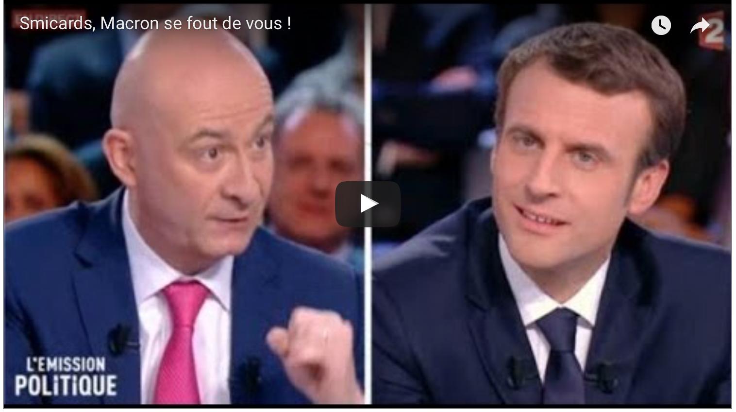 Macron dépouille les smicards pour enrichir encore plus les grands patrons, sans contre-partie d'emplois