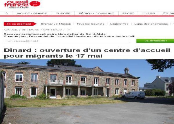 Dinard, protection maximale de 17 clandestins mais rien pour les enfants de nos écoles m'sieur Macron ?