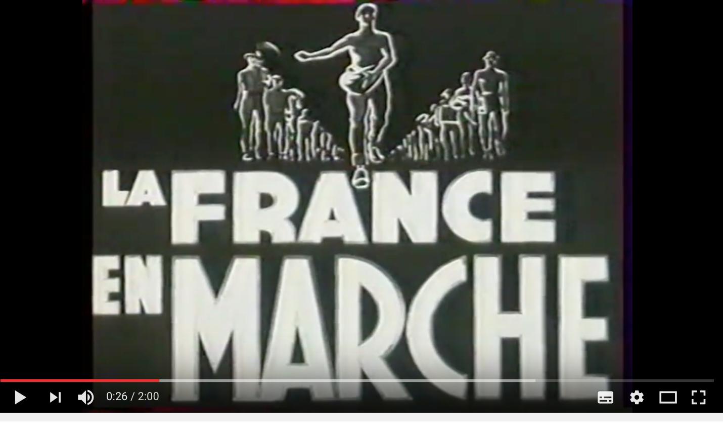 La «France en Marche «c'était le régime du travail sous Vichy, ressuscitée avec Macron
