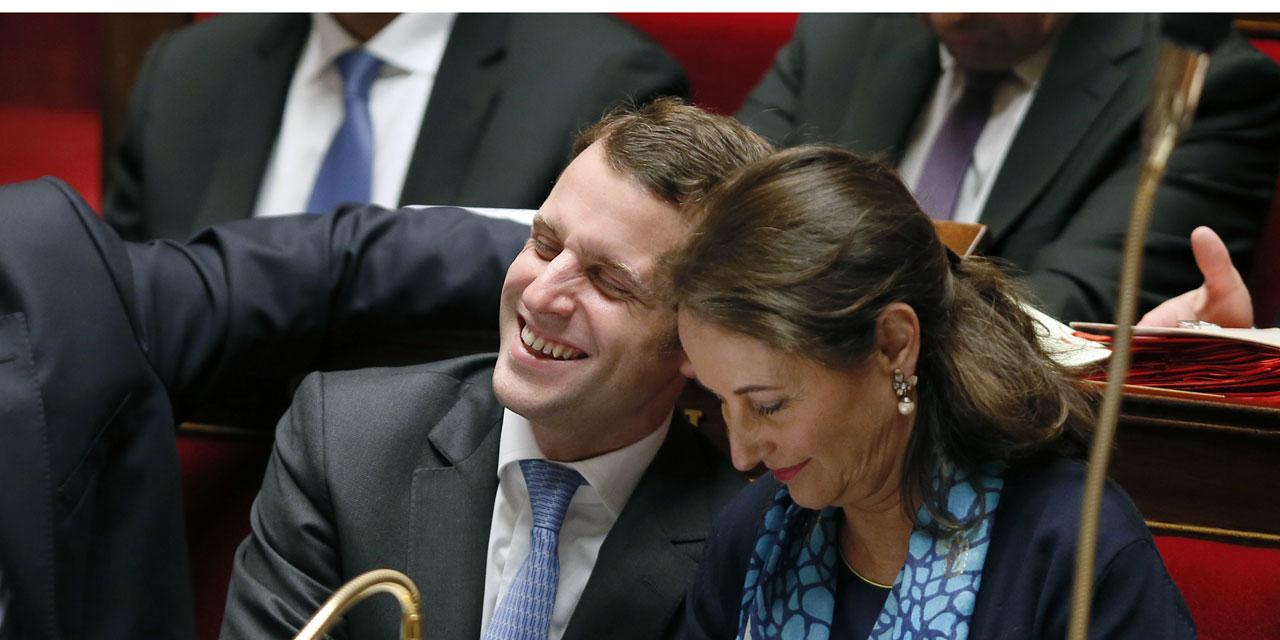 Ségolène Royal l'arapède ne lâche pas les basques de bébé Macron