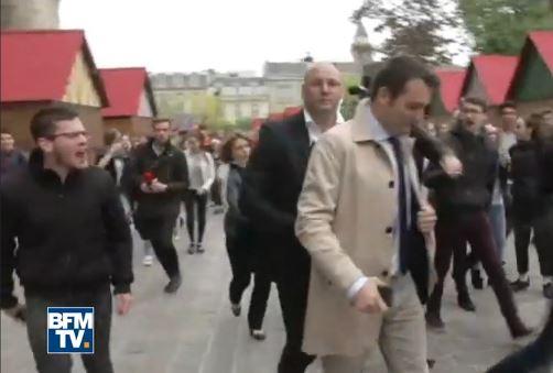 Reims : ces miliciens fascistes de Macron-Mélenchon qui menacent Florian, Marine et Nicolas…