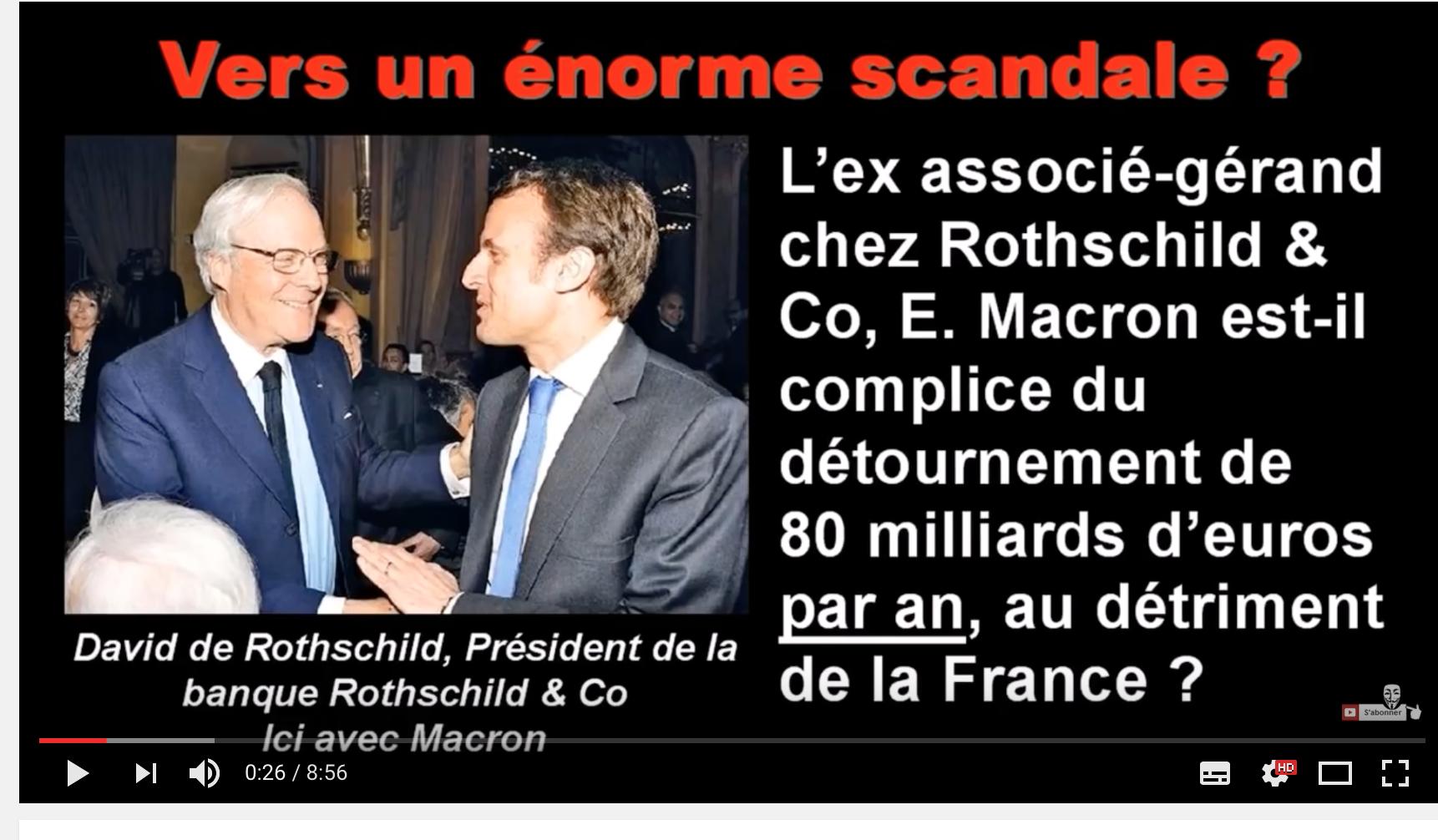 Macron complice d'un détournement de 80 milliards par an aux dépens de la France ? Enorme scandale