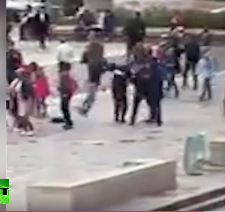 Beaux réflexes : la video de l'attaque des policiers devant Notre-Dame