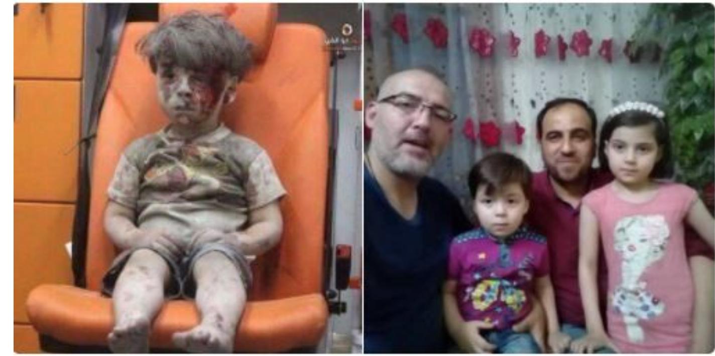 Alep,le père du petit Omran  avoue : » les rebelles » lui ont offert de l'argent pour accuser Bachar