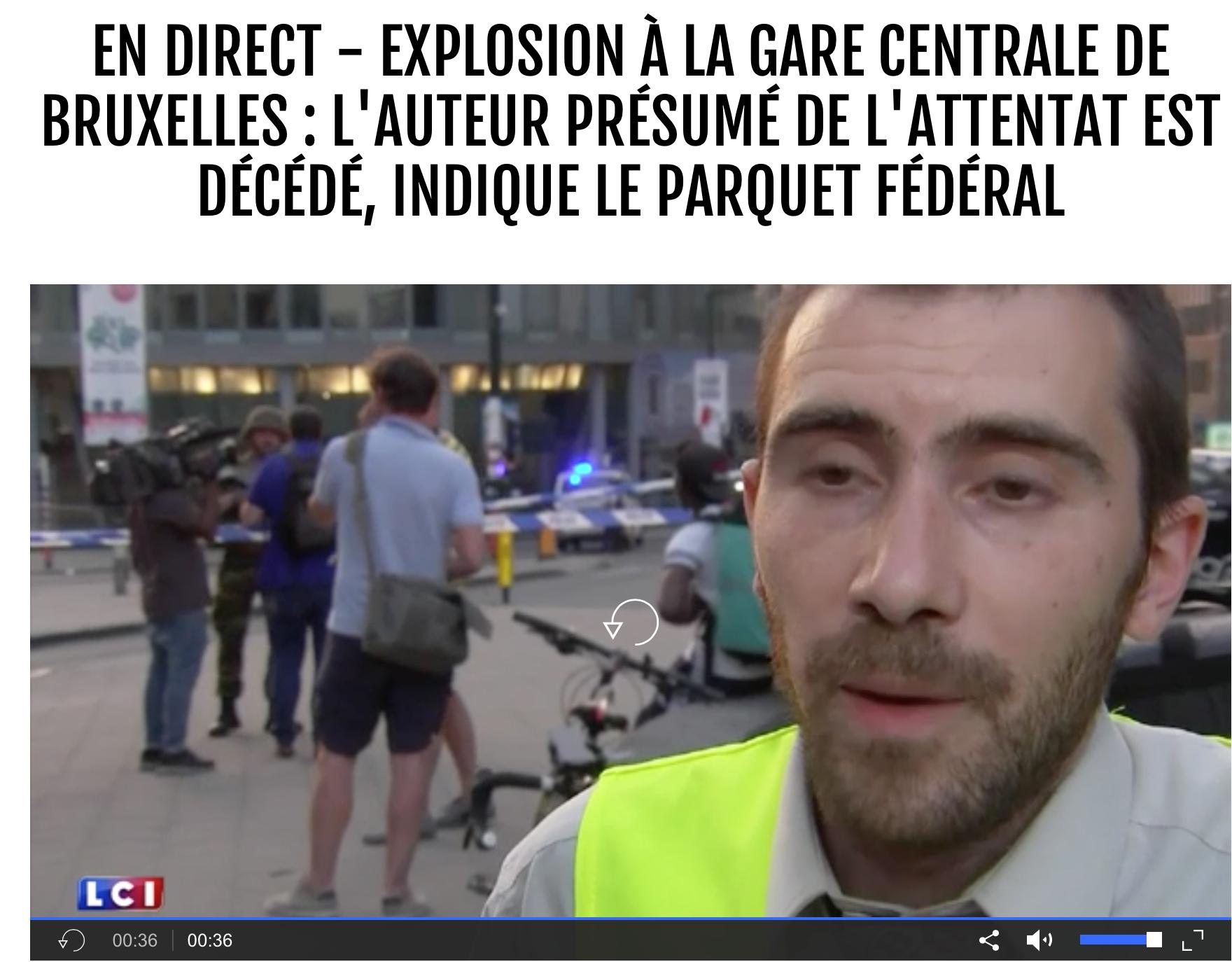 «Allah akbar» à la gare de Bruxelles… Et il y a des cons pour croire que c'est un cri de paix ?