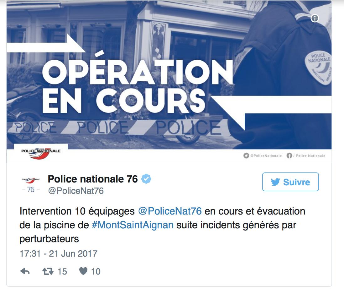 Rouen, 50 djeunes envahissent  la piscine : les maîtres-nageurs débordés, 1 300 personnes évacuées