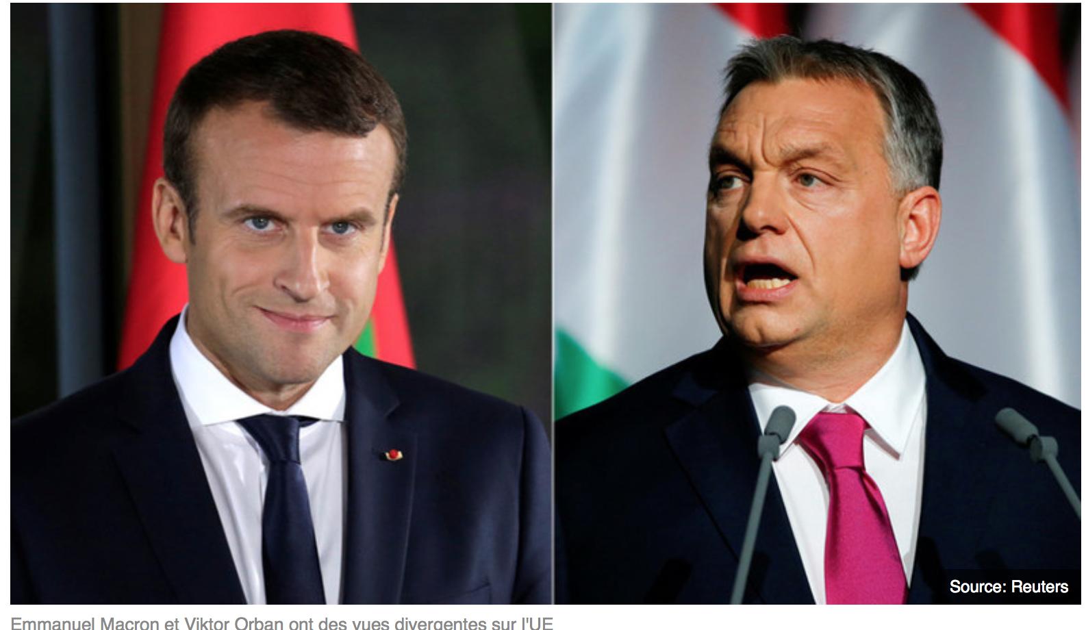 Petit Macron nique la France mais veut donner des leçons à Orban !